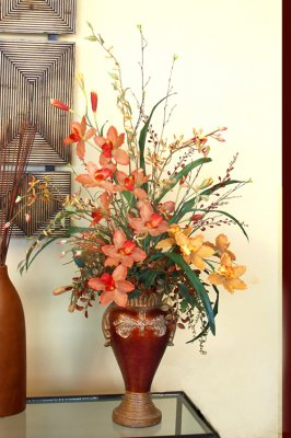 Featured silk flower arrangements silk flowers floral for Foyer flower arrangement