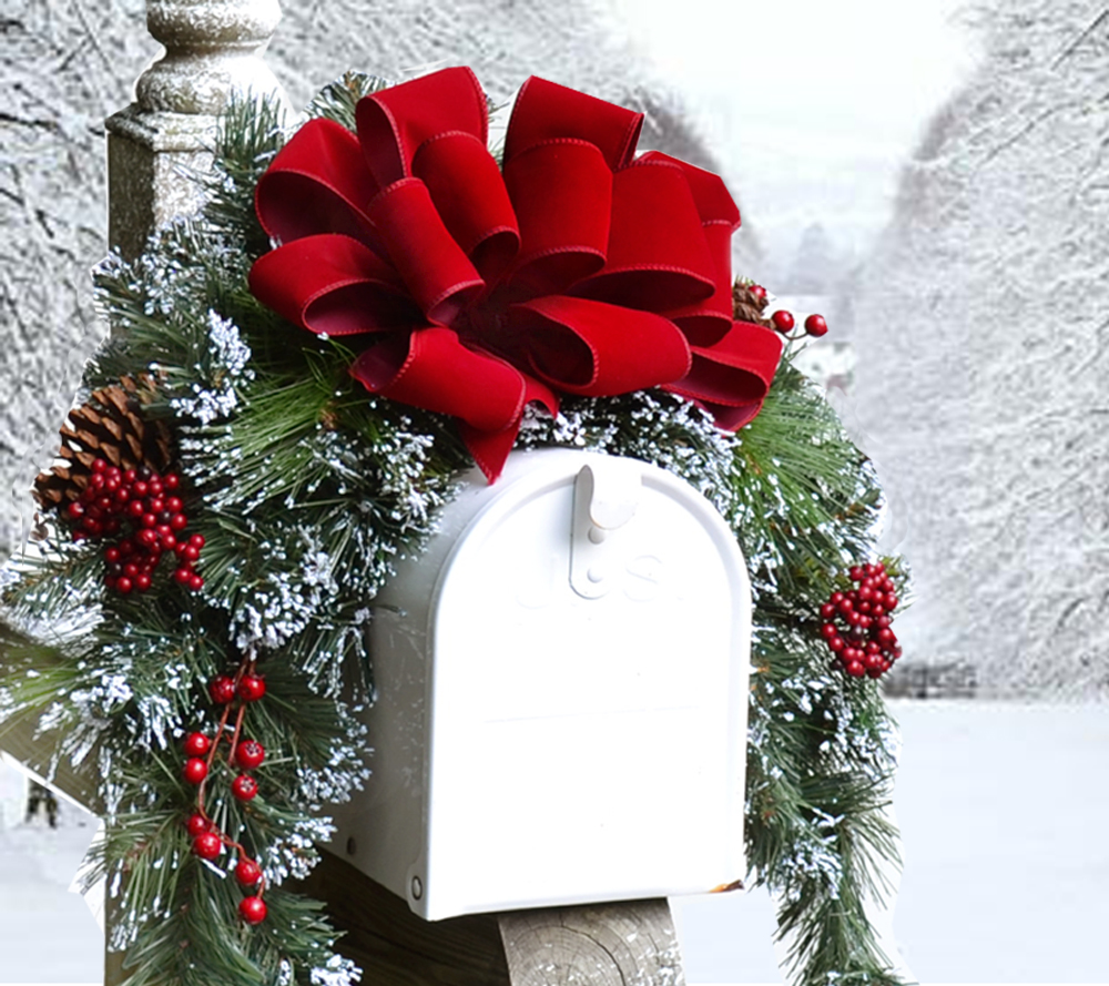 mailbox decorations ideas christmas decor decorating post best brick peaceful