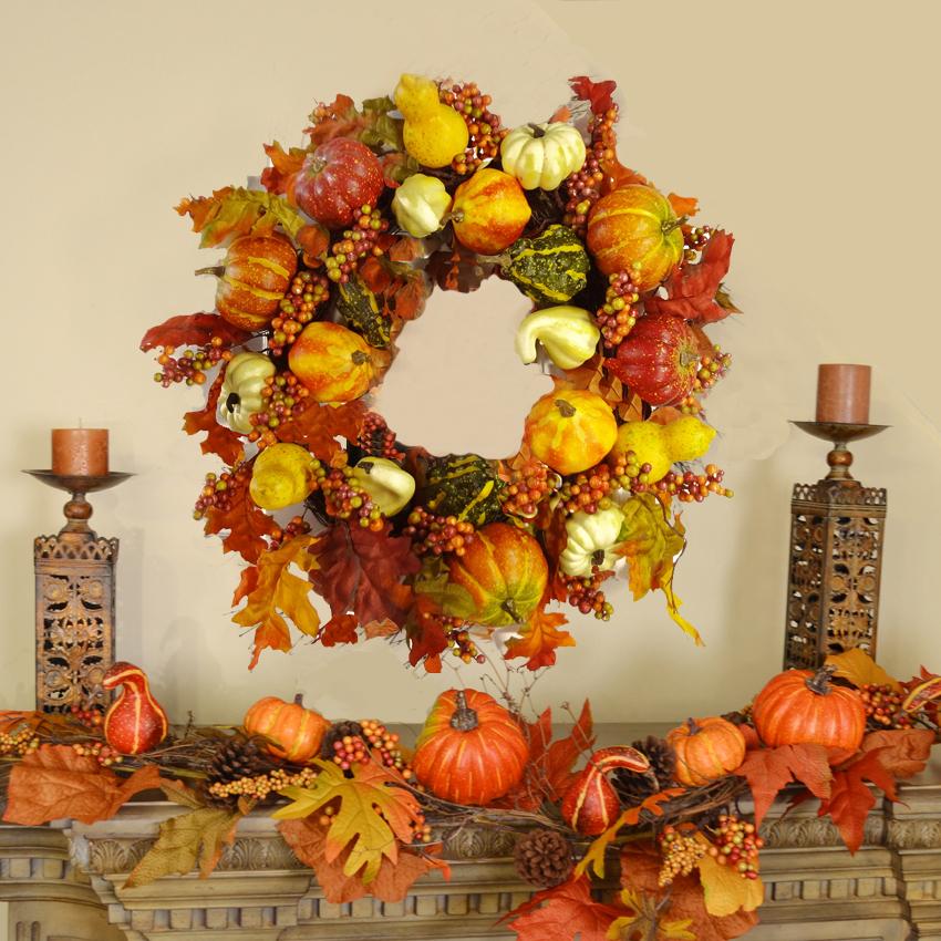Fall Wreath Pumpin Gourd