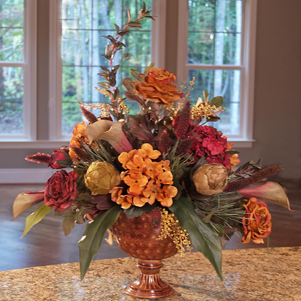 Silk flower arrangements centerpiece large artificial