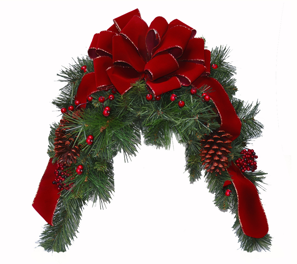 Burgundy holiday mailbox swag christmas mailbox swag for California floral and home christmas decorations