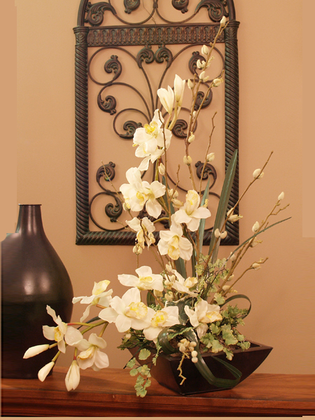 Cymbidium Soft Silk Orchid Arrangement O114 73 Floral