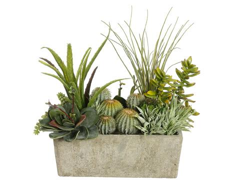 Green Succulents Silk Flower Arrangement Arwf3414 Floral