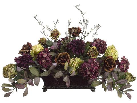 Rose Hydrangea Dahlia And Peony Silk Flower Design