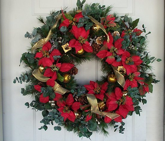 Red gold poinsettia christmas wreath out of stock floral home red gold poinsettia christmas wreath out of stock mightylinksfo