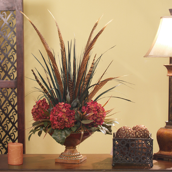 Feathers Hydrangea Ar215 99 199 95 Fl Home Decor Silk Rose Arrangements Tulip Magnolia Flower