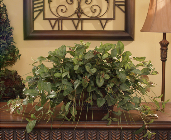 Chocolate Wall Sconce With Hydrangeas And Greenery SC12-67