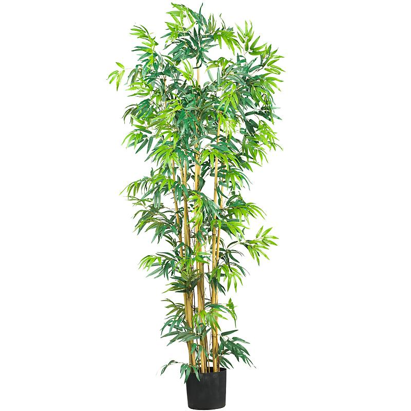 Decorative Natural Looking Artificial 4/' Asian Bambusa Bamboo Silk Tree Plants