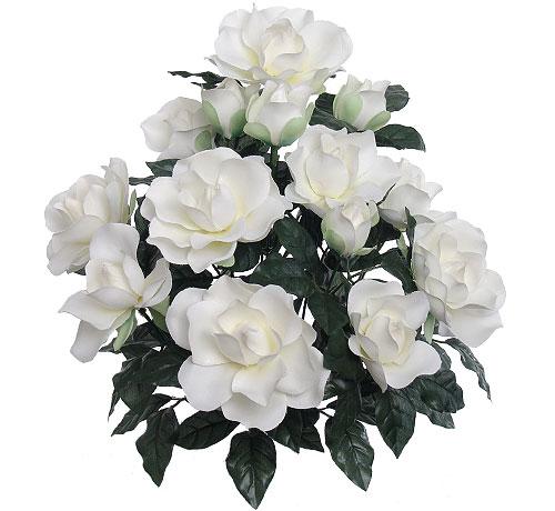18 GARDENIA BUSH, S7156 (6 piece min)  Floral Home Decor