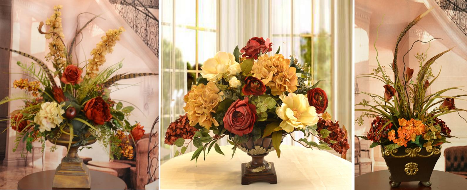 Floral Home Decor Silk Rose Arrangements Tulip Floral Arrangements